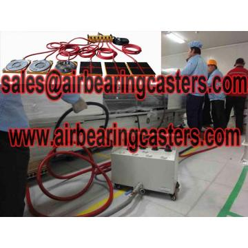 Air casters are transport moving tools