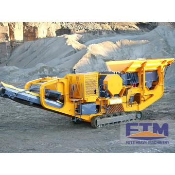 Mobile stone crusher plant and construction equipment for sale