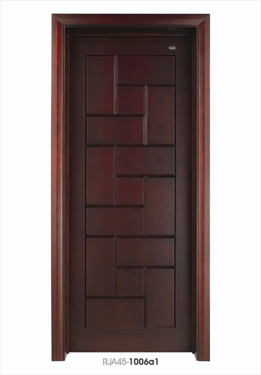 Solid wood door door wooden door interior door wood door for Solid entrance doors