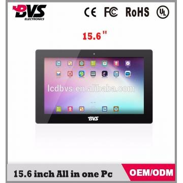15.6 inch industrial touch screen panel pc with RK3188 qual core processor with bluetooth and wifi