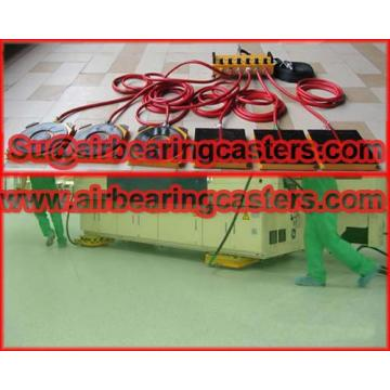air pads for moving equipment also named air bearing casters