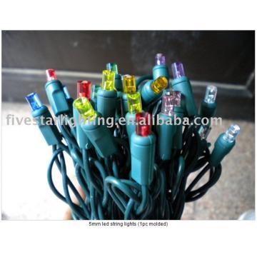5mm led string lights (1pc molded)