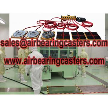 Air casters load moving equipment