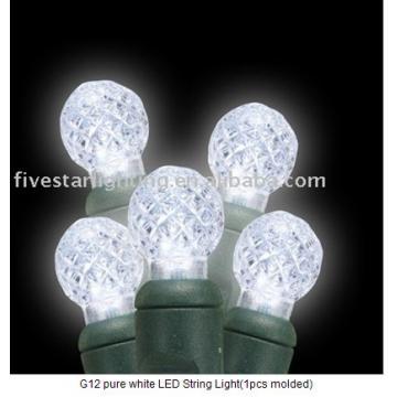 G12 pure white LED String Light(1pcs molded)