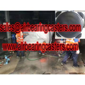 Air casters with six or four air modular