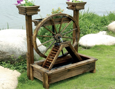 Wooden Water Pump Fountain Wooden Water Pump Fountain