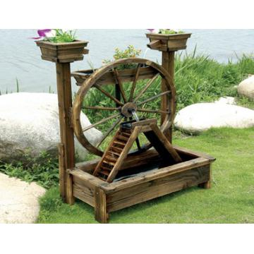 Wooden Water Pump Fountain