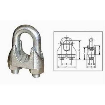 BS 462 Hot Dipped Galv Malleable Wire Rope Clips