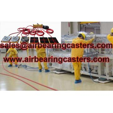 Air bearing casters rigging any loads with the best easy way.