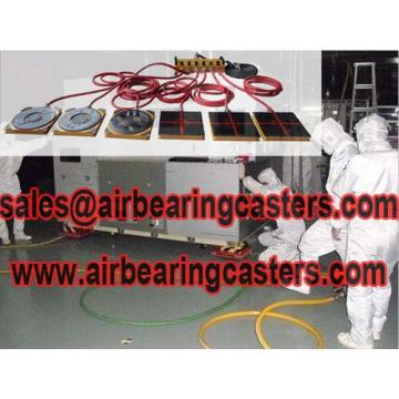 Air casters rigging systems reduces more resistance
