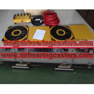 Air film transporters six or four air skates