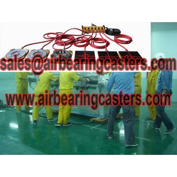 Air casters rigging systems is a popular choice