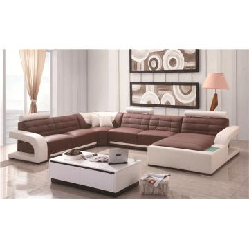 Professional manufacture cheap modern leather L shape sofa living room sofa