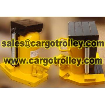 Lifting moving jack transport devices