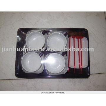 plastic airline tableware
