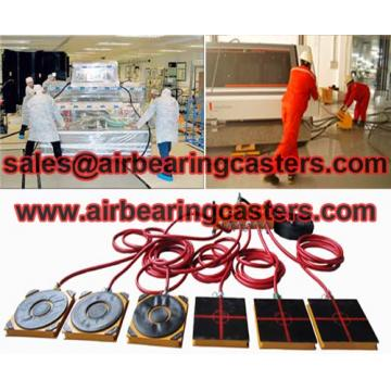 Air bearing skids with functional characteristics