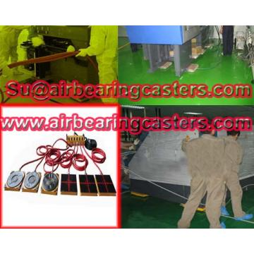 Air casters with four or six air modular