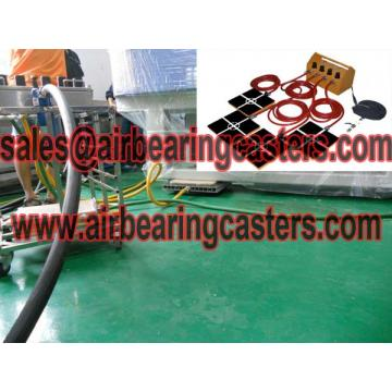 Air caster rigging equipment applied on moving heavy loads