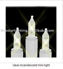 clear incandescent mini light