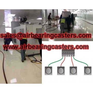 Air bearing casters six air modular