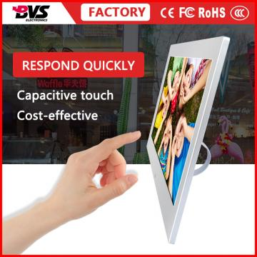 VESA mount 15.6 inch fanless android 6.0 system advertising display with bluetooth and wifi