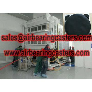 Modular air casters with six air modular