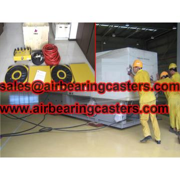 Air bearings for transporting heavy cargo with detailed