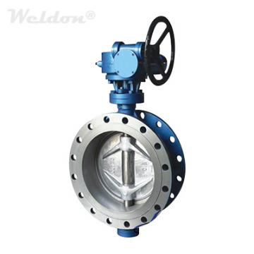 Flanged End Double Offset Butterfly Valve A216 WCB 12 Inch 300 LB