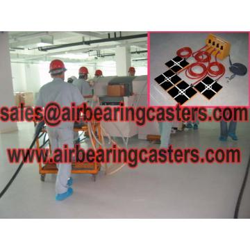 Air casters with six air modular air rigging systems