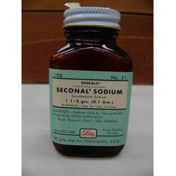 Seconal (Secobarbital Sodium) 100mg (1 bottle=100 caps)